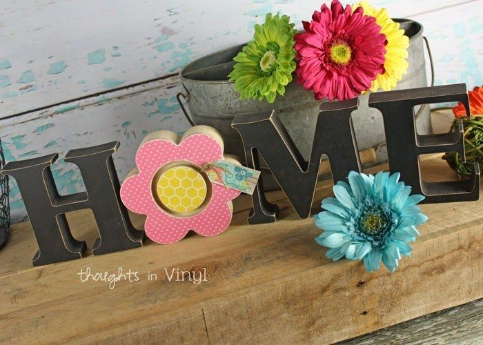 Flower Insert For The HOME Word Is Adorable Spring