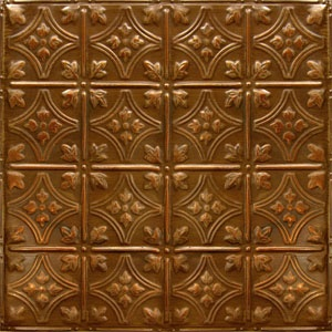 american tin ceiling tiles pattern 3 in copper brushed bronze - American Tin Ceilings