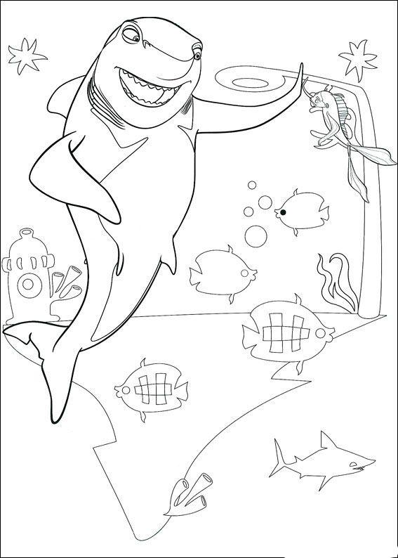 große haie kleine fische 5 ausmalbilder für kinder