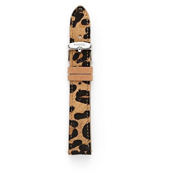 On my list to get!! Fossil Leather 18mm Watch Strap - Cheetah