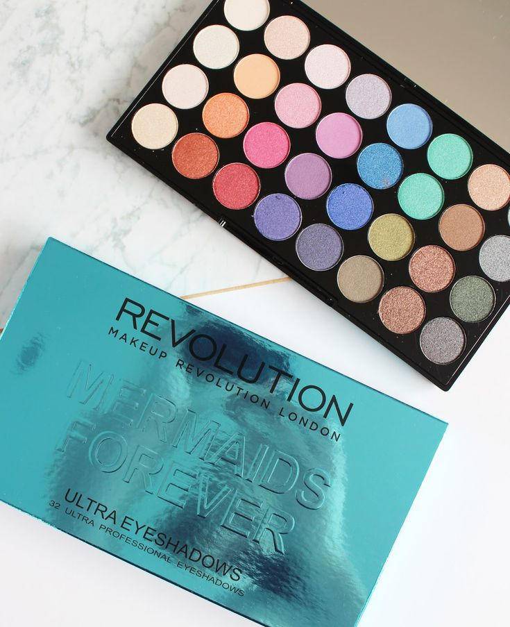 MAKEUP REVOLUTION | Mermaids Forever 32 Ultra Professional Eyeshadow Palette - Review + Swatches - CassandraMyee