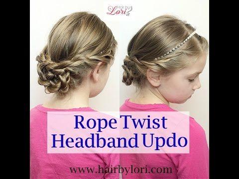 Rope Twist Headband Updo How to Video Tutorial