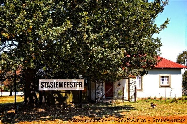 In the centre of the village, Stasiemeester Self-Catering. http://www.accommodation-in-southafrica.co.za/Mpumalanga/Chrissiesmeer/StasiemeesterSelfCatering.aspx