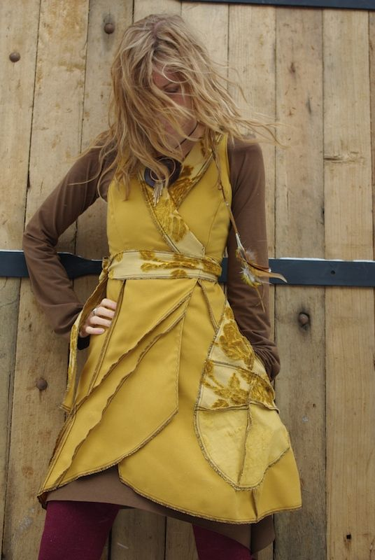 Lingering Turmeric *Woven Wrap Dress*       260~