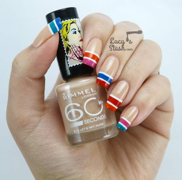 Colour-block Tip Nail Art with Rimmel London Rita Ora Line