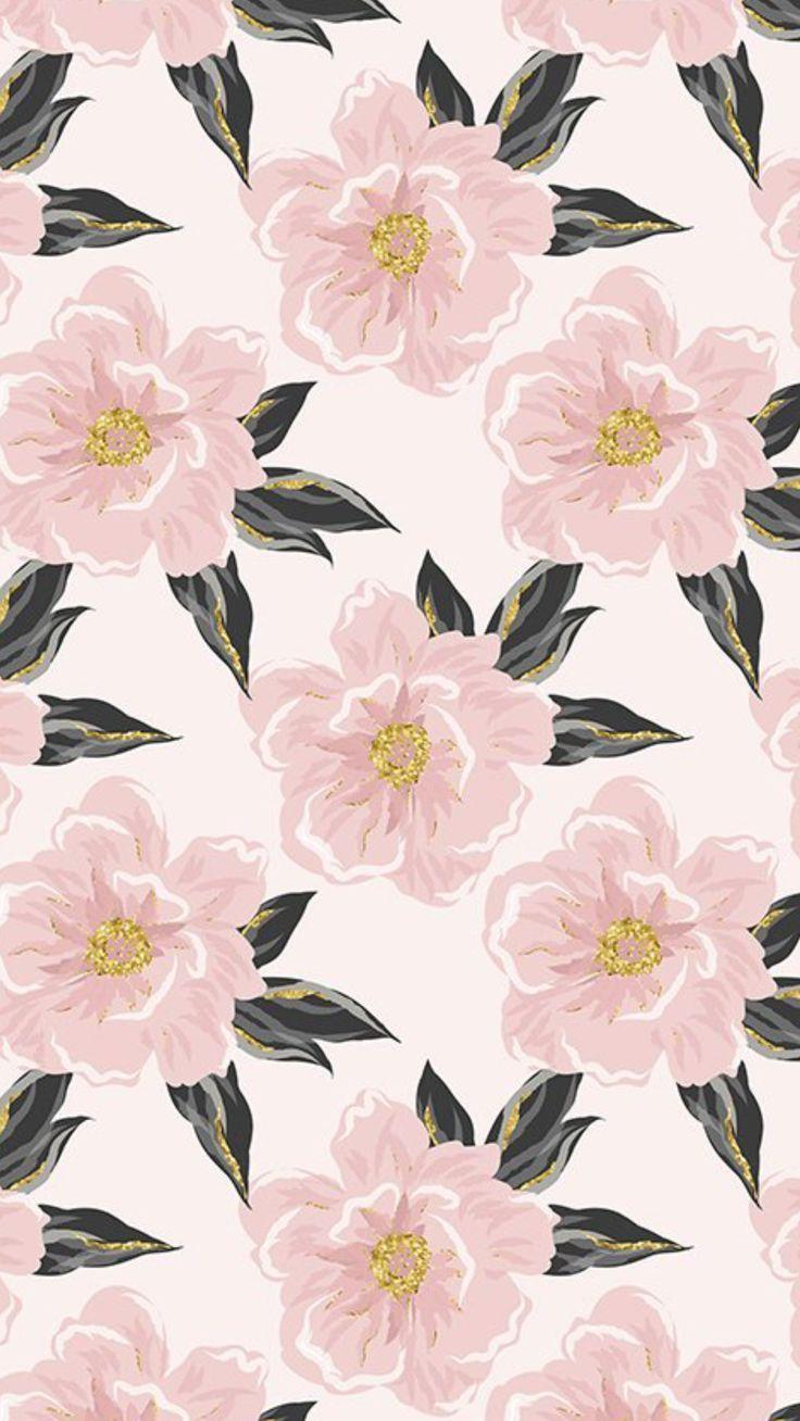 Flowers Pattern Pink Pastel Iphone Wallpaper Pattern Flower