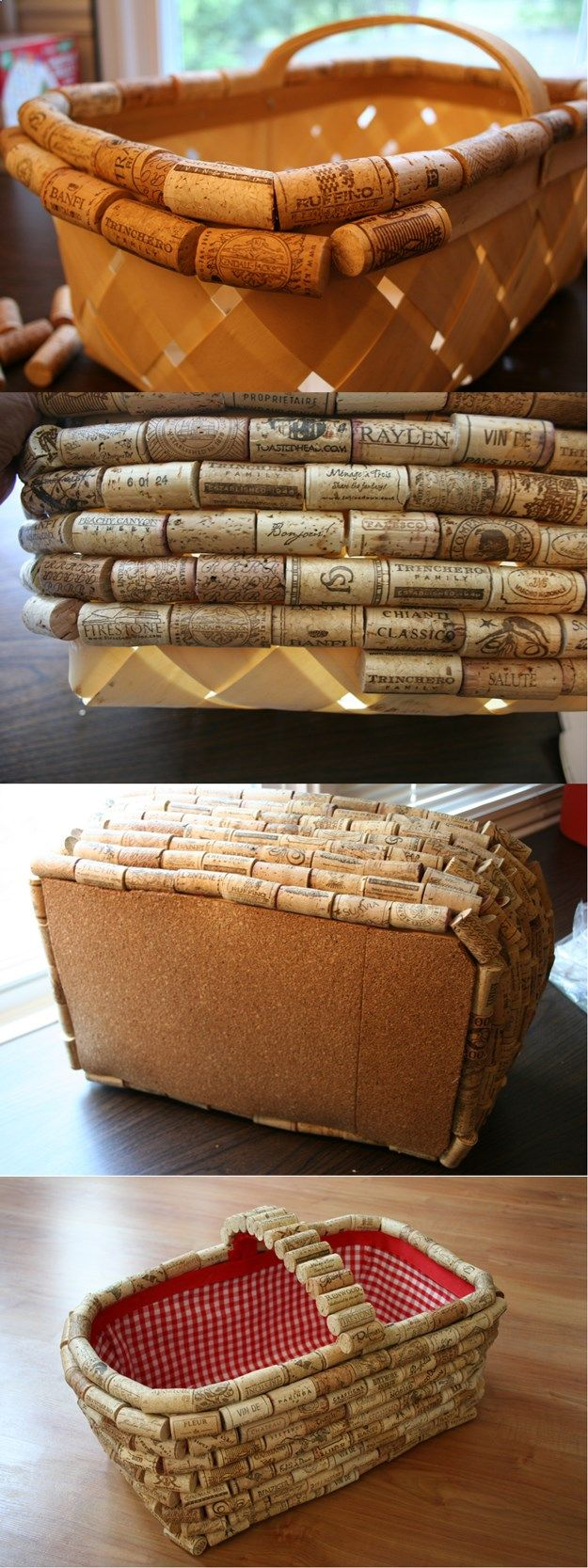 Crafts made with corks - Simple Diy Wine Cork Basket Easy Wine Cork Project By Diy Ready At Diyready