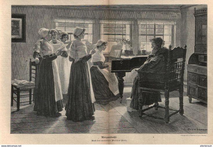 Morgenandacht /Druck, Entnommen Aus Zeitschrift/1896 - Bücher, Zeitschriften, Comics