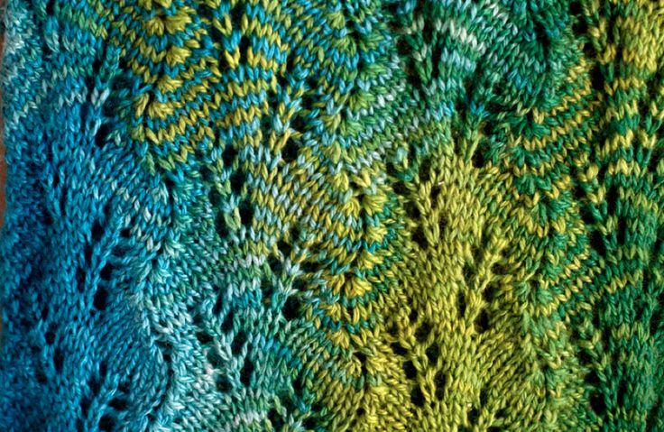 Free Knitting Pattern - Scarves: Sweet Georgia Lace Scarf