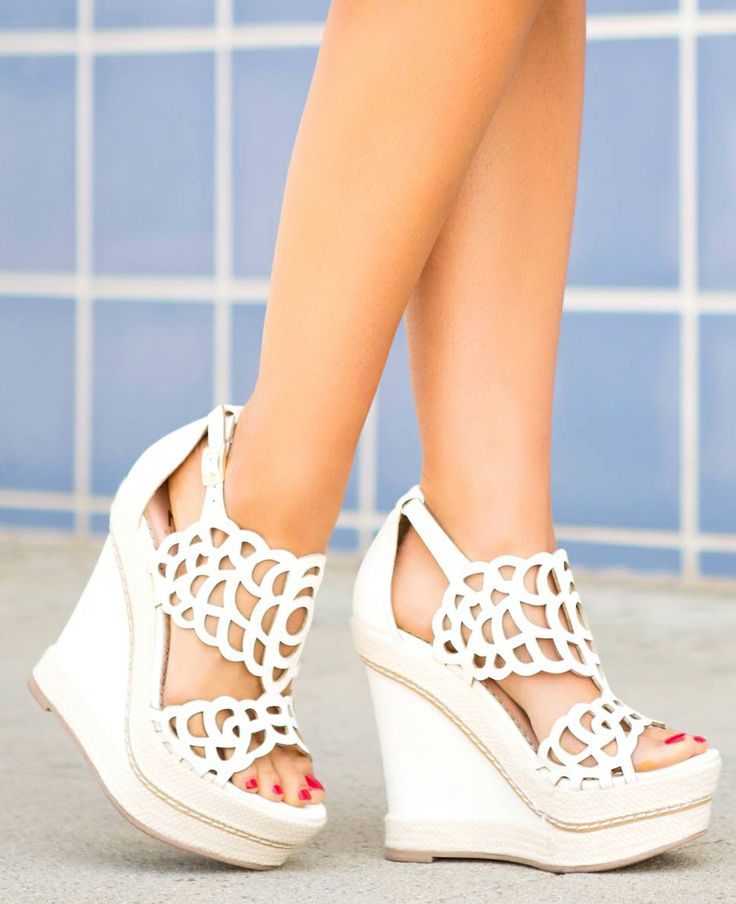 Floral cut out wedges