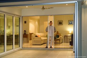 An amazing screen door for your patio door that allows for the gorgeous views from inside & out, lets the cool breeze through the screens, but keeps the bugs out.#phantomscreens