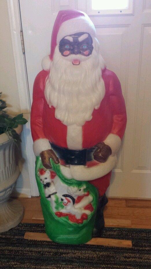 Empire Outdoor Black Santa 45 Quot Plastic Blowmold Af American