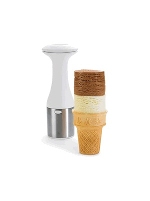A Modern Ice Cream Scoop   ~ make gorgeously stacked cylindrical ice cream cones.