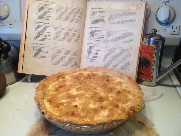 Sour Cream Apple Pie. Tastes like a cheesecake, but made better by the flavours of apple pie. Serious YUM factor.
