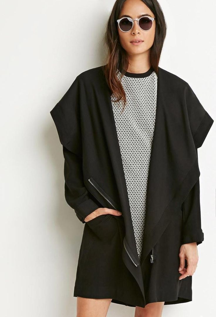 Buttoned Wrap Cocoon Jacket http://picvpic.com/women-coats-jackets-jackets-blazers/buttoned-wrap-cocoon-jacket#Black?ref=QA8LwA