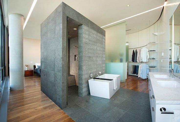 Uptown Penthouse by ALTUS Architecture   Design (I know it's stone not concrete, but I don't care)