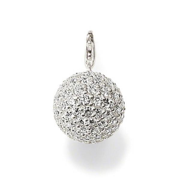 Colgante Thomas Sabo plata, bola circonitas blancas - Manuel Joyero
