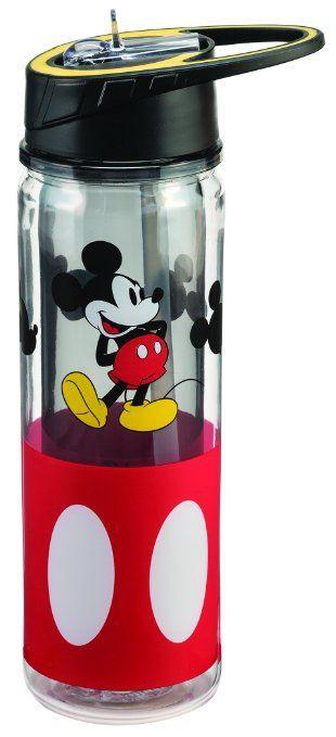 Vandor 89175 Disney Mickey Mouse Tritan Water Bottle, 18 oz, Multicolor