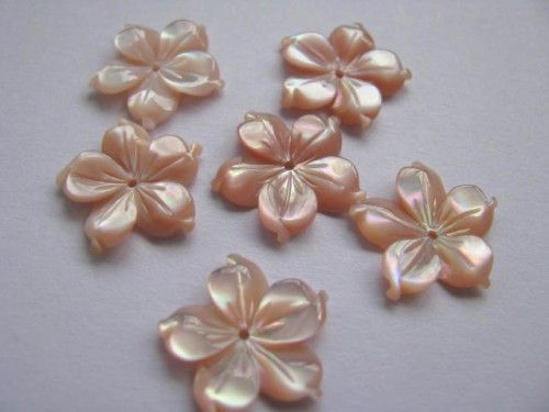 flower petal point cabochon assortment mother of pearl shell 12mm48pcs