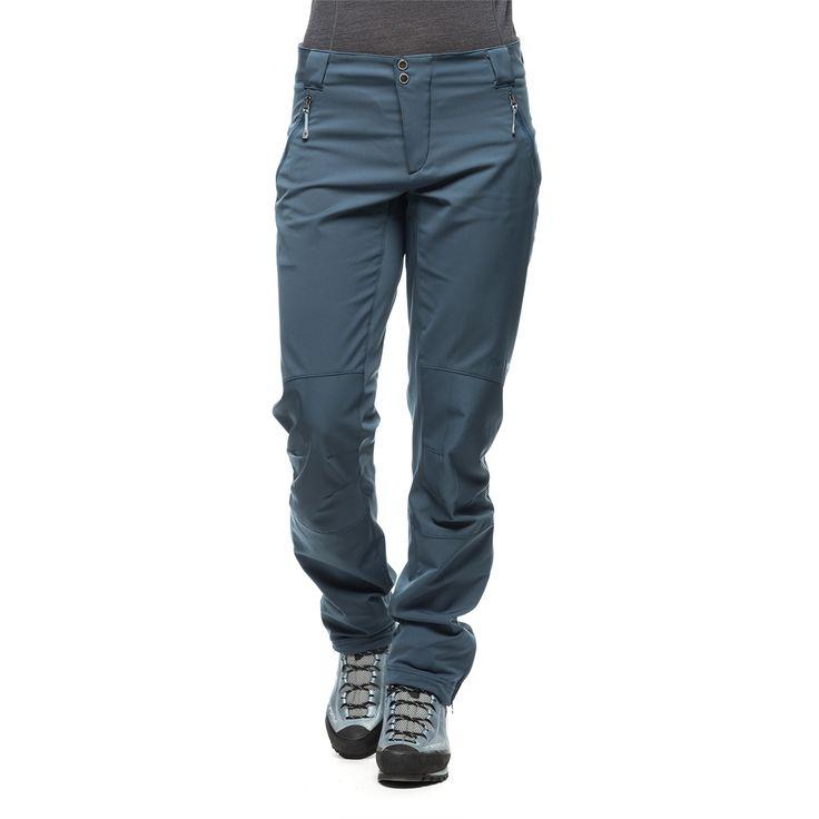 Lettere turbukse enn den fra Klattermusen som jeg har: 207773 Houdini  Houdini W's Motion Pants rider blue M myk og stretchy softshellbukse, 414gram