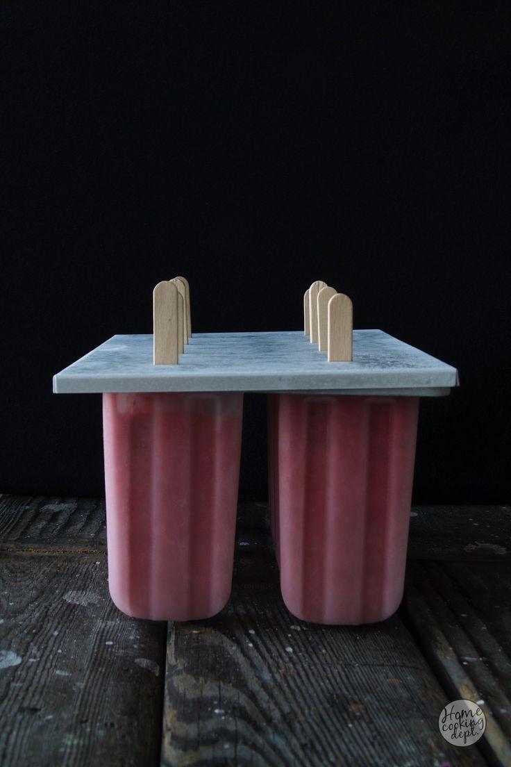 zelf ijsjes maken, Snelle frozen yoghurt aardbeien ijsjes / Homecooking dept