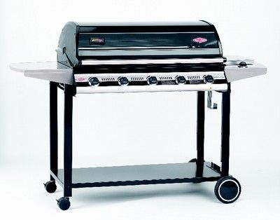 Superceded Discovery Classic 5 Burner  Great Entertainer sized 5 Burner. Porcelain enamel coated barbecue body Integral roasting hood with viewing window - porcelain coated with cast alloy sides Porcelain coated cooking plates and grills - They won't rust. Stainless steel Vaporizer grids to reduce flare ups