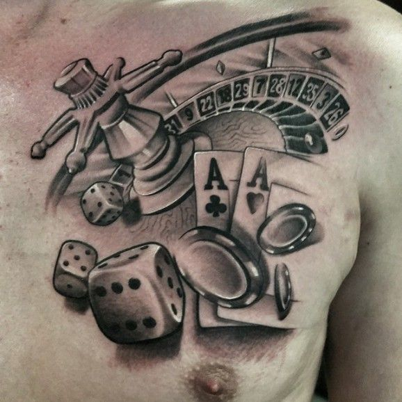 nice black and grey roulette tattoo by gerrit bekman tattoos pinterest gambling tattoos. Black Bedroom Furniture Sets. Home Design Ideas