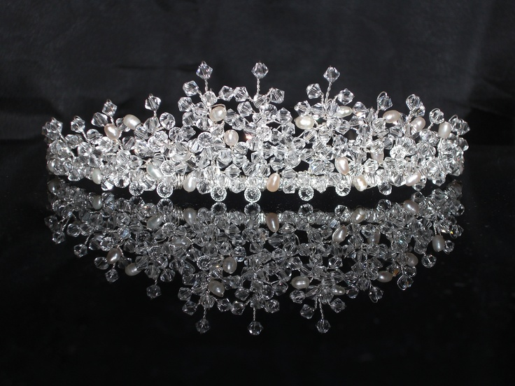 Handmade Crystal Tiara - Jane Design by BeadinMarvellous.co.uk