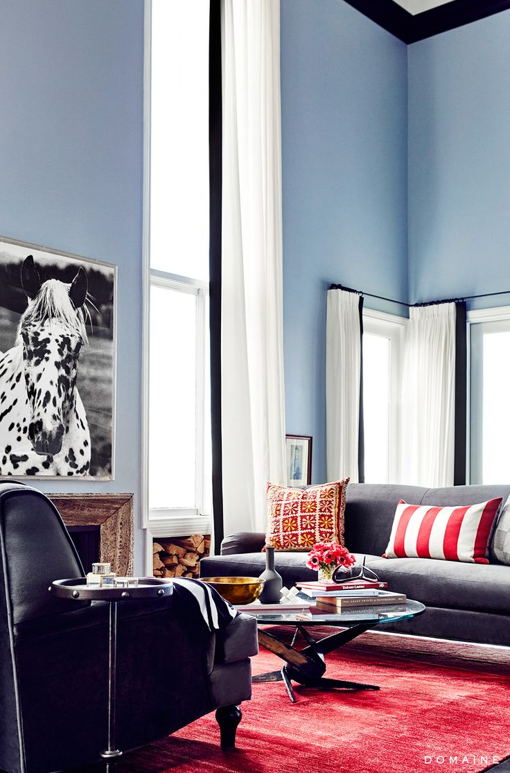 Red And Blue Living Room 228 Best Images About Blue Walls On Pinterest Design Files Deep