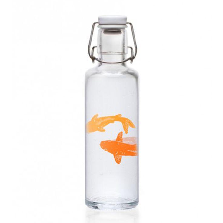 #glastrinkflasche #design #koi #goldfisch #trinkwasser