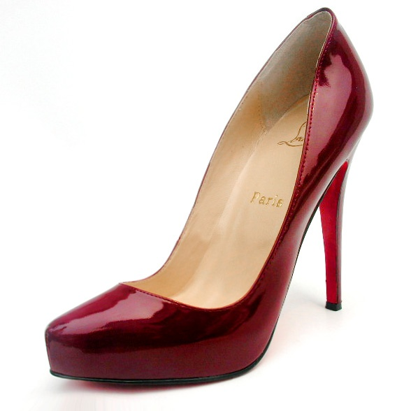 Christian Louboutin Lambskin Leather Rolando Dark Red Qc05401 - a must-own for all girls