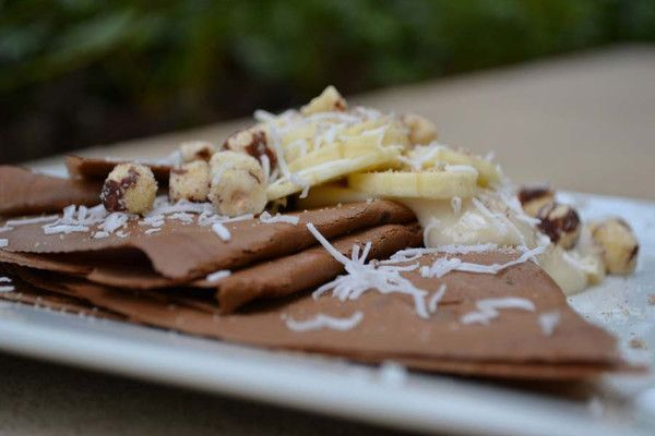 Chocolate Crepes with Banana Coconut Filling | Recipes from our Cancer ...