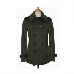 Sophisticated Lapel Double-Breasted Solid Color Woolen Long Coat For Men