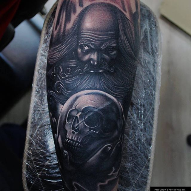 Best 25 wizard tattoo ideas on pinterest father time for Wizard tattoo designs