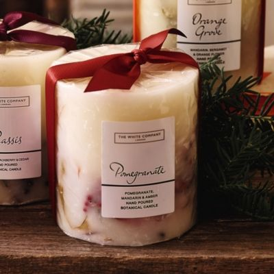 Pomegranate Botanical Candle from The White Company #whitechristmaswishlist