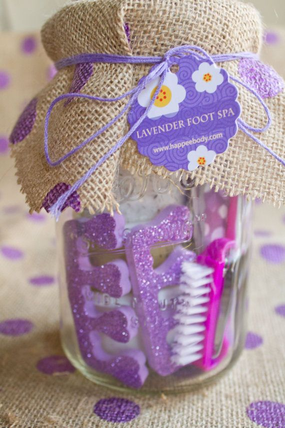Mother's Day Gift : Happee Feet Lavender Foot Spa In A Jar -- soak + scrub + butter + manicure set + tealight candle + eye mask --  https://www.etsy.com/listing/186313605/happee-body-lavender-foot-spa-in-a-jar-2