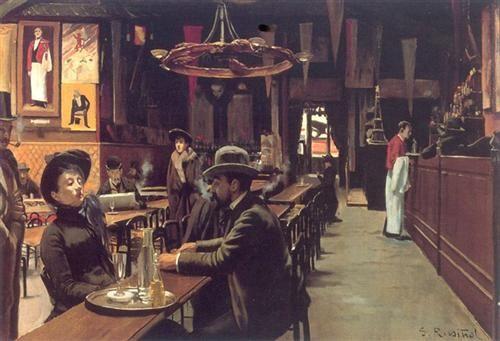 Café des Incoherents, Montmartre - Santiago Rusinol