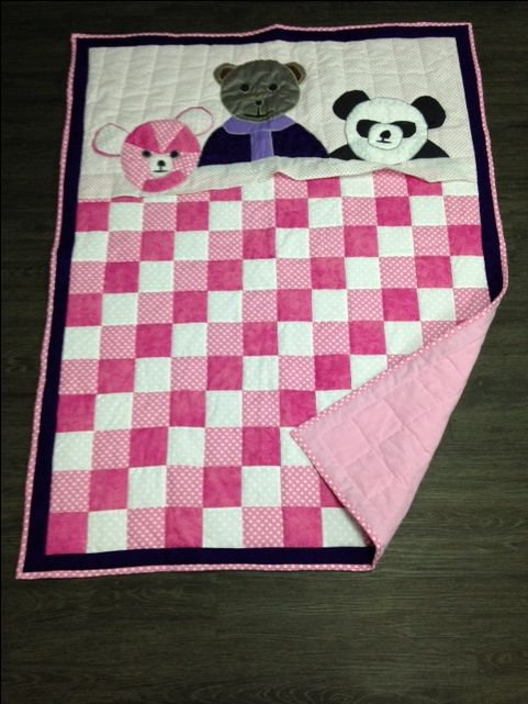 This quilt was made with love for my niece