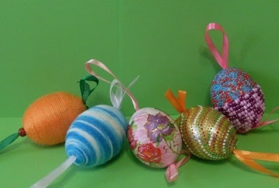 Riciclo di uova per Pasqua