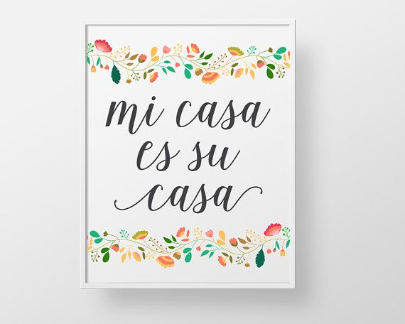 Mi Casa es su Casa  print wall decor art  by BokehEverAfter