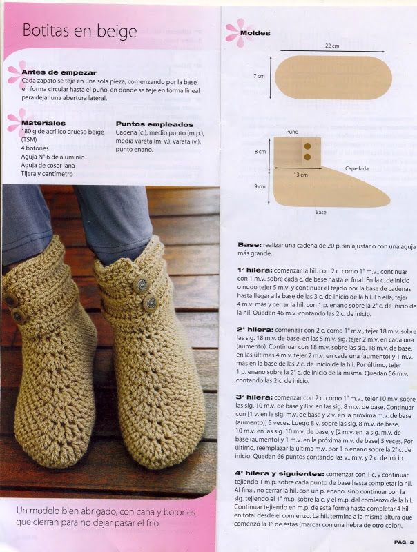 Mejores 13 imágenes de GANCHILLO ZAPATILLAS en Pinterest | Zapatos ...