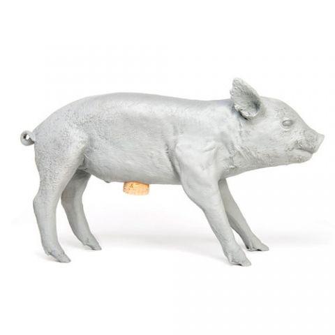 Køb DESIGNDELICATESSEN - Areaware - Bank in the Form of a Pig grå - sparegris