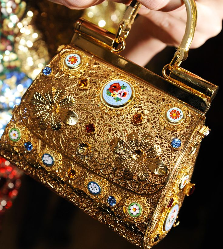 Dolce FW 2014 Mosaic Women Collection the handbags! Like!