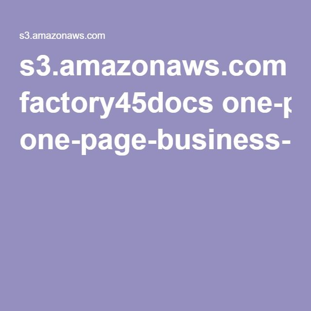 Best  One Page Business Plan Ideas On   Business