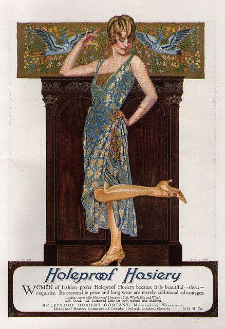 Coles Phillips February, 1923 Holeproof Hosiery ad