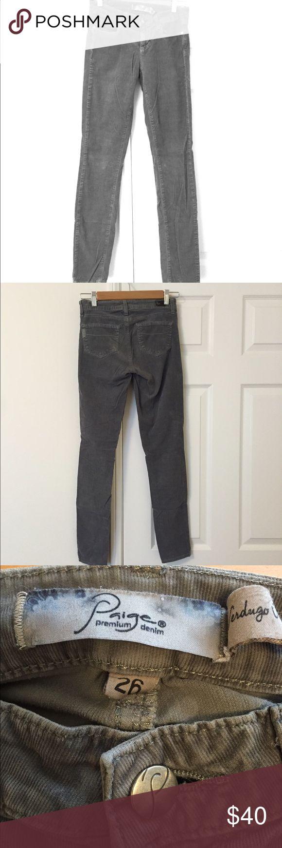 Final Sale!🌸 Paige gray cord jeans Paige denim great condition. PAIGE Jeans Straight Leg