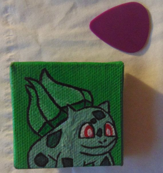 Handmade Bulbasaur Pokémon magnet available at yumjellydonuts.etsy.com