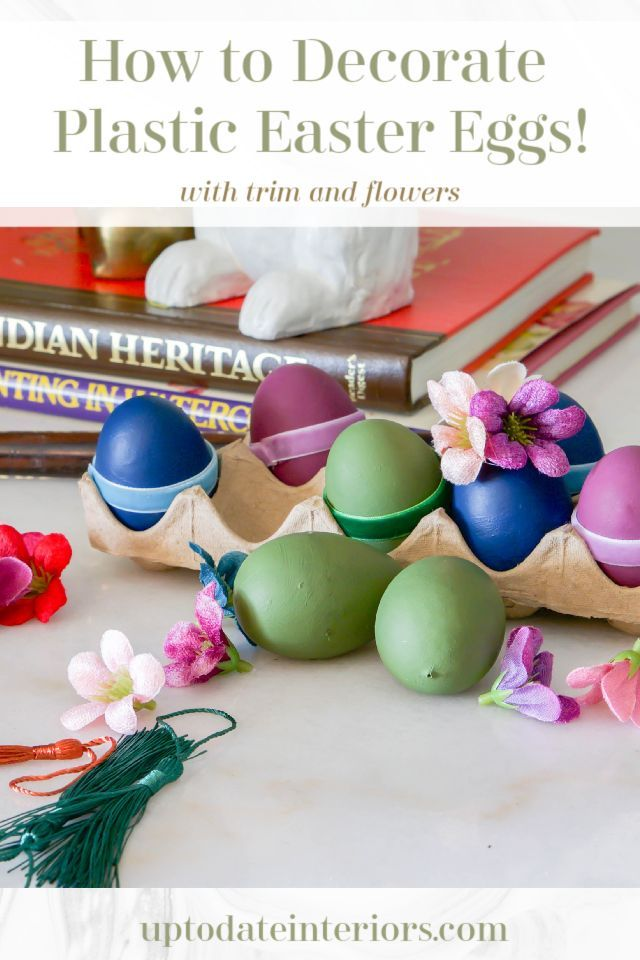 How To Decorate Plastic Eggs With Velvet Ribbon And Flowers Plastic Eggs Egg Decorating Plastic Easter Eggs