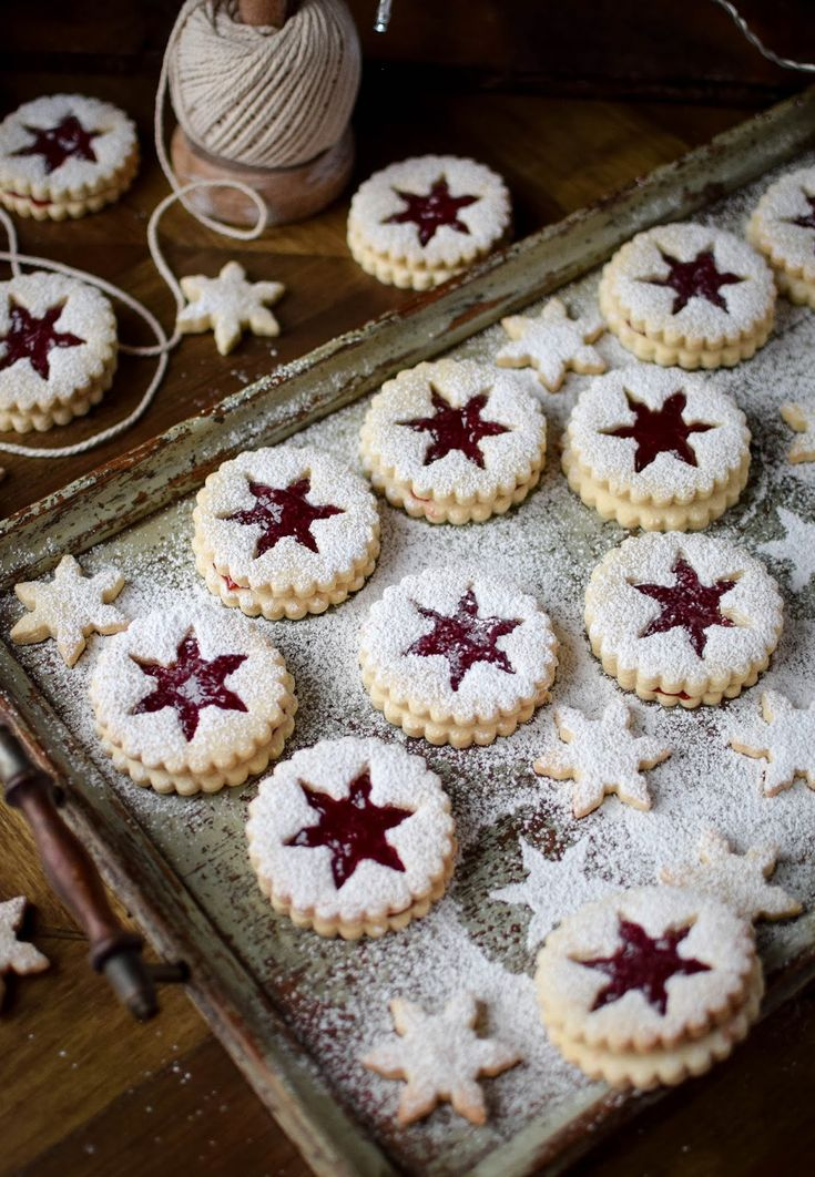 Strawberry Jam Linser Cookies