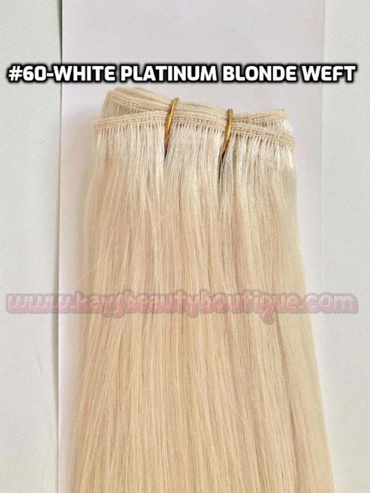 White Platinum Blonde Weft Weaving 100% Remy Human…